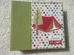 Camping Scrapbook by SimplyMemories on Etsy