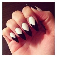 50 ideias de nail art gráfica para copiar já ❤ liked on Polyvore featuring beauty products, nail care and nails