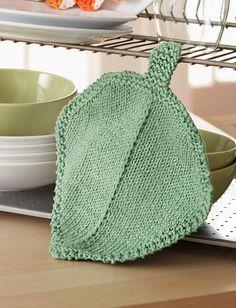 Yarnspirations Bernat Garden Leaf Dishcloth Patterns Knitting