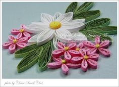 Claire's paper craft: paper quilling -- husking flowers tutorial