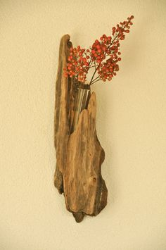 Driftwood Wall Vase (maybe in the bathroom?)
