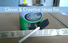Chalk Board Paint: Clever and Creative Uses – MomPrepares