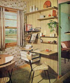 Kitchen office, 1960