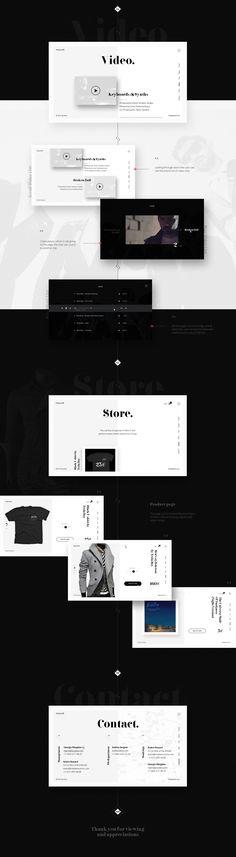 Tesla Boy - web site concept on Behance