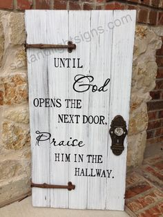 saltandlightsigns.com Wooden Christian Sign God Praise