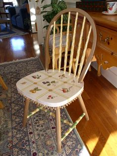 diy painted windsor chairs bean bag chair reviews canada 94 best images dining rooms handpainted whimsical by sharonmooradian on etsy decoupage