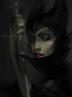 Disney Vilains fanart - Maleficent - The Sleeping Beauty Disney Pixar, Disney Fan Art, Disney Villains, Disney And Dreamworks, Disney Love, Disney Magic, Disney Horror, Dark Disney, Disney Stuff