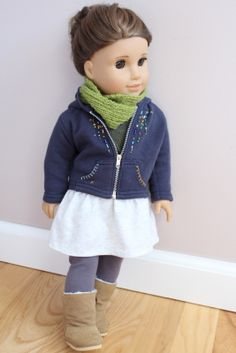 Clarisse's Closet:  What I'm wearing: Sweatshirt: AG Cargo Outfit (bedazzled!) Sweater and Scarf: Clarisse Originals Skirt: AG Mia's Meet Leggings: AG Frosty Fair Isle Set, Boots Sophia's Brand