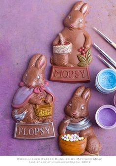How to Embellish Chocolate Bunnies sharypat
