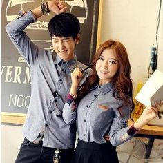 Check Panel Couple Shirt from #YesStyle <3 Evolu YesStyle.com