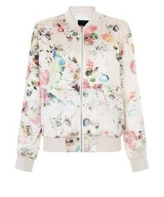 Coming soon to a closet near me...Pink Floral Print Bomber Jacket  6c3a20ff1b9