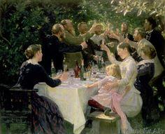 Peter Severin Krøyer - Hip, Hip, Hurra-Künstlerfest in Skagen