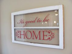 Uppercase Living vinyl used on an old window.
