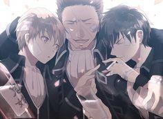 Okita, Kondo and Hijikata