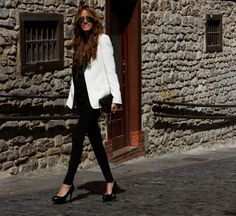 I have been looking for ways to wear my white blazer. It is still approp for fall/winter right?