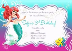 Birthday Party Supplies By Papel Pintado Little Mermaid BirthdayThe