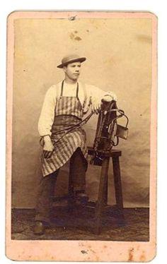 WESTERN SADDLE MAKER in Collectibles, Photographic Images, Vintage & Antique (Pre-1940), CDVs | eBay