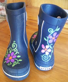 My daughter was upset last week when it really rained for the first time of the season and she discovered her hot pink rain boots no longer ...