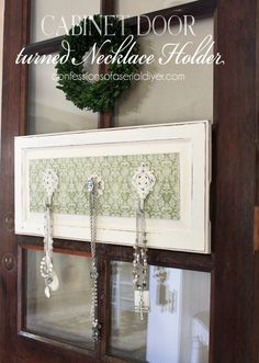 Cabinet Door to Jewelry Organizer