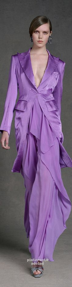 Donna Karan Resort 2013 violet  women fashion outfit clothing style apparel @roressclothes closet ideas