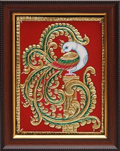 Tanjore Paintings - Peacock