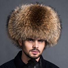 d0ff518da24 Elegant 2017 New Real Raccoon Fur fur hat Winter Headwear