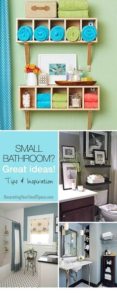 Small Bathroom? Great Ideas! • Tips, Ideas & Inspiration! • Explore our blog for more great DIY projects and home decorating ideas!