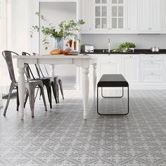 Kjøkkengulv - Laminat - Parkett - Klikkvinyl   Fargerike Kitchens, Dining Table, Furniture, Home Decor, Design, Modern, Rome, Decoration Home, Room Decor