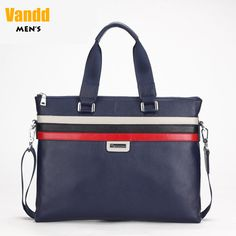 Aliexpress.com : Buy Vandd Men's Blue Real Top Grain Leather Striped Horizontal Tote Handbag Fashion Shoulder Messenger Bag New In Box from Reliable men shoulder bag suppliers on Vandd Men. $85.00