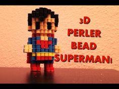 3D Perler Bead Superman! - YouTube