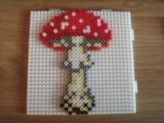 mushroom hama perler beads