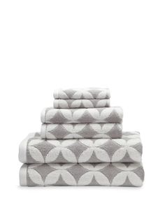 Grey + White Patterned Towels (Luxor Linens via Gilt) #Bath