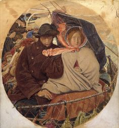 Ford Madox Brown, 'The Last of England' 1864–6 Study. Tate Britain.