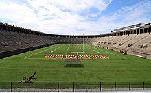 Harvard Stadium, the first collegiate athletic stadium built in the U.S.