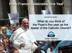 After one year, Pope Francis made many progressive changes. Learn more w/ our free story: http://www.listenedition.com/2014/03/20/pope-francis-celebrates-one-year/