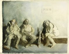 The Receiving Room: the Stationary Hospital, William Orpen, 1917 Bench Drawing, Painting & Drawing, World War One, First World, Ww1 Art, British Soldier, Prisoners Of War, Female Soldier, Wwi