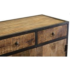 Found it at Wayfair - Industrial Reclaimed Wood and Iron 2 Drawer Sideboard Cabinet