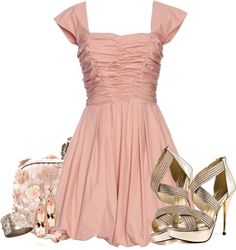 """Pink"" by ohmeejean ❤ liked on Polyvore"