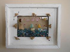 Nautical Shadowbox Sun Catcher Window Glass Art Beach by LookandSea,