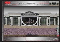 Architectural proposal / Facades concept / july 2011 #architecture #3dvisualization #2floors_6m #artdeco #restaurant #cafe #bar #diningroom #300_500m2 #facade #facade_glass #facade_thealuminumpanels #architecture