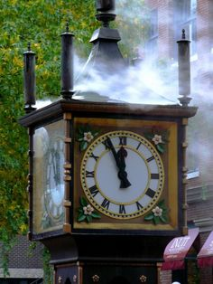 steam clock, downtown Vancouver