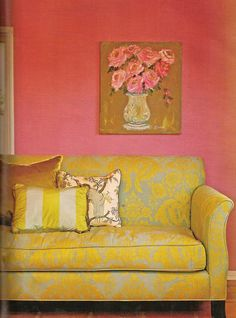 I am in love with this painting. Pink and Ochre!