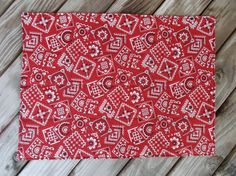 Bandana placemats fabric placemats quilted by 3Jenerations on Etsy