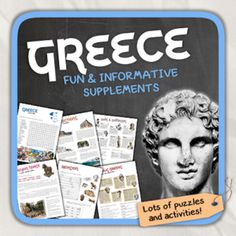 Greece (country study) from Thematic Worksheets on TeachersNotebook.com -  (16 pages)  - Let's get to know Greece! Greece Country, Community Workers, Great Philosophers, Alexander The Great, Ancient Civilizations, Social Studies, Worksheets, Trojan Horse, Study