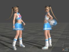 DOA5 Marie Rose Costume 10 Cheerleader    ~by rolance