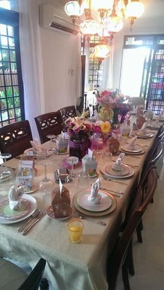 Table decor for Easter