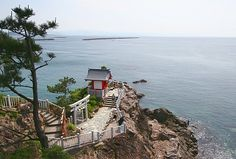 Katsurahama Beach, near Kochi, Japan, it's kind of a long jont up the stairs! very pretty