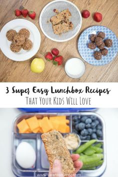 It's almost that time again – back to school! And although many of us are more than ready for our little darlings to head back to class, we aren't super excited about packing lunches every day. Or is that just me (**I doubt it!Lunch packing needs to b Lunch Box Recipes, Snack Recipes, Healthy Recipes, Lunch Ideas, Detox Recipes, Healthy Food, Dessert Recipes, Real Food Recipes, Yummy Food