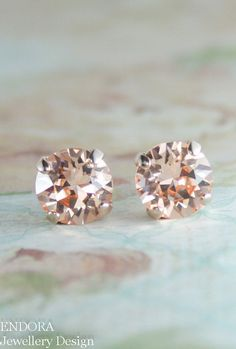 Hey, I found this really awesome Etsy listing at https://www.etsy.com/listing/216035491/rose-gold-earringspeach-crystal