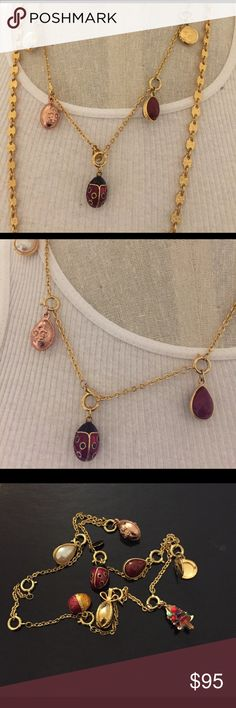 Joan Rivera Black and Gold Jewelry hanger Pvc trim Hanging